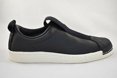 uk availability 836b5 88ea3 WOMENS ADIDAS SUPERSTAR BW3S Slip-On Black Trainers RRP £69.99