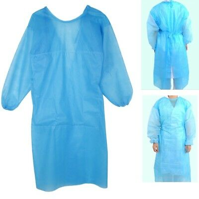 Blue Disposable Surgical Gown Cloth for Permanent Eyebrow Lip Tattoo Makeup