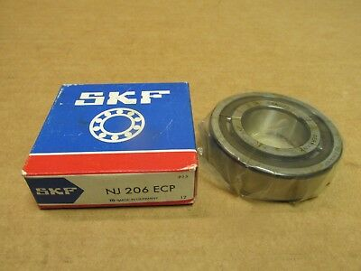 SKF NJ 206 ECP//C3HVC058 CYLINDRICAL ROLLER BRGS FACTORY NEW