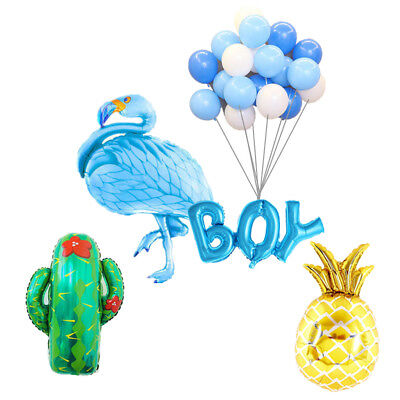 Tropical Flamingo Boy Girl Pineapple Cactus Balloons Kits Baby Shower