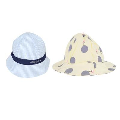 2xToddler Infant Sun Cap Summer Outdoor Baby Girls Boys Sun Beach Cotton Hat