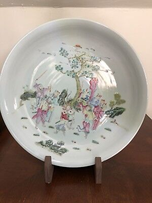 Large Beautiful Chinese Antique 19th Or 20th  Century  Plate