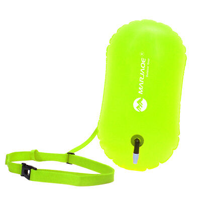 Fluo Yellow Swim Bubble Safety Buoy Float for Open Water Swimmers & Kayakers