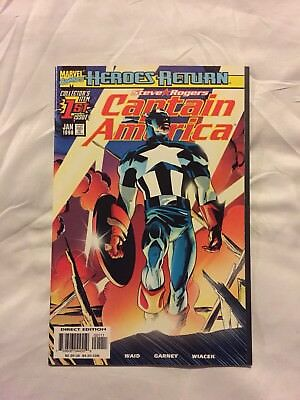 Captain America # 1 ( 1998 Heroes Return ) NM / VF Bagged And Boarded