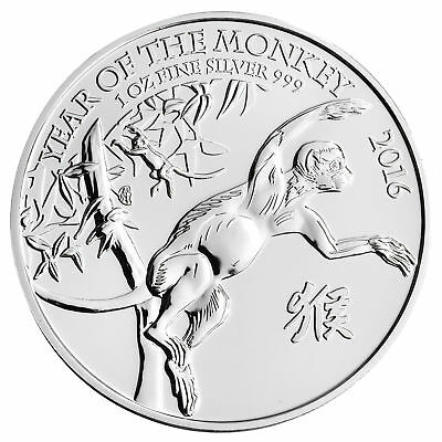 2016 Great Britain 1oz Silver Year of the Monkey .999 Fine BU