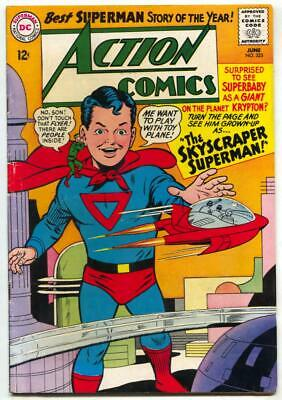 Action #325-Superman-Dc-Superbaby-1965 Fn