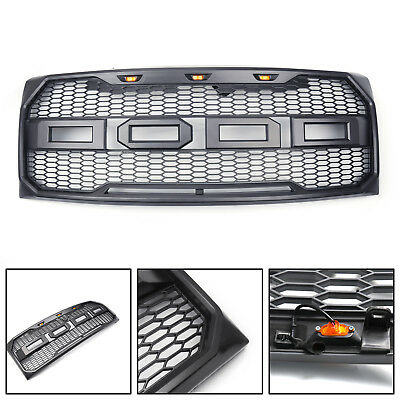 2009-2014 Ford F-150 Grille Grill Gray SPORT Style Front Bumper Hood w/F R New