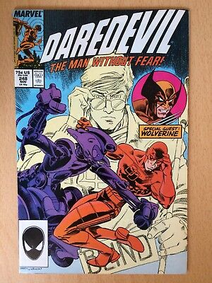 Daredevil #248, 1987. Brief appearance from Wolverine - Very good condition