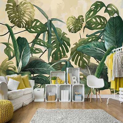 VERY STYLISH RELAXING Tropical Rain forest Palm Leaf Large Murals Wall Wallpaper