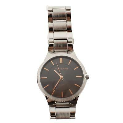 Tahari Mens Silver Oversized Round Fashion Wristwatch O/S BHFO 2133