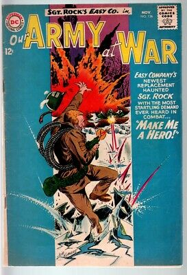 Our Army At War #136 1963-Dc War Comic-Sgt. Rock-Vg Vg