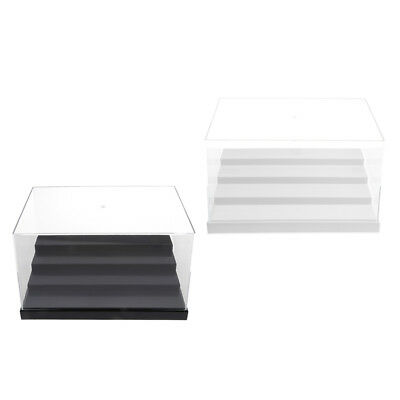 2x Acrylic 4 Step Display Case Clear Box Dustproof Tray Car Model Figure Toy