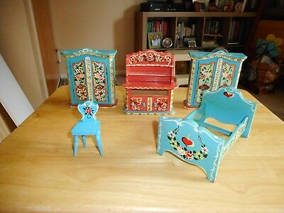 Vintage Dollhouse Furniture Made In West Germany Free Shipping