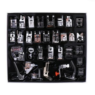 32 x Domestic Sewing Machine Foot Presser Feet Set for Singer Brother Janome