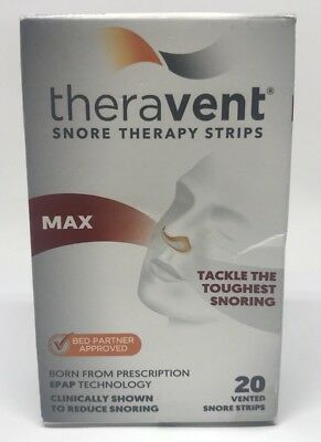 Theravent MAX (Maximum Strength) Snoring Therapy - 20 Night Supply Free Shipping