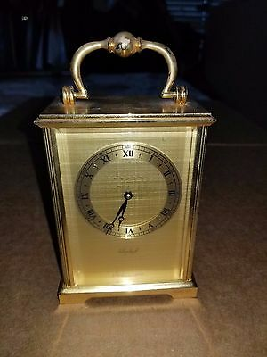 Vintage IMHOF Brass Carriage Clock 15 Jewels Swiss Desk Clock 1748158
