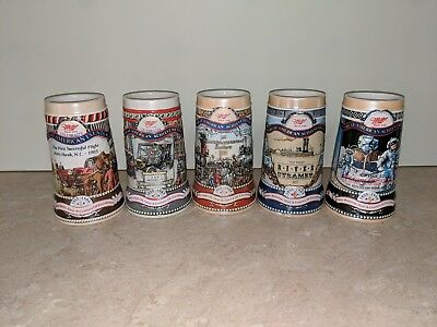 Miller Set Of Five Great American Achievement Beer Steins Brazil