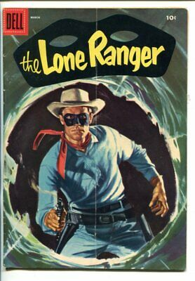 THE LONE RANGER #93-1956-DELL-TONTO-SCOUT-SILVER-SILVER BULLET-vg