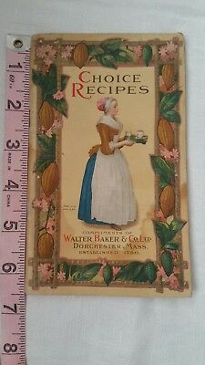 Vintage Book Choice Recipes Compliment Of Walter Baker & Co Collectable 1926