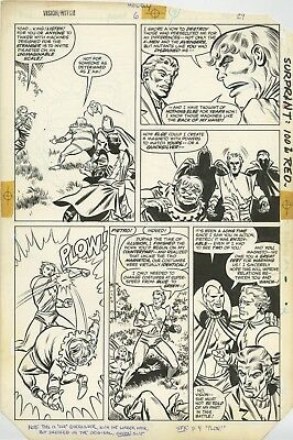 THE VISION AND THE SCARLET WITCH #6 PAGE 29 Original Art by HOWELL/SPRINGER 1986
