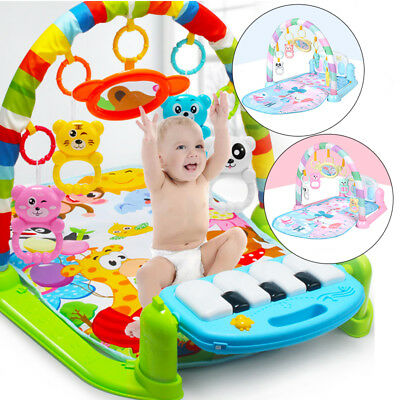 3 In 1 Baby Lullaby Kid Playmat Musical Piano Activity Soft Fitness Gym Mat US
