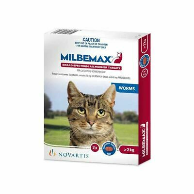 Milbemax for Large Cats 2-8kg - Two Tablet Pack