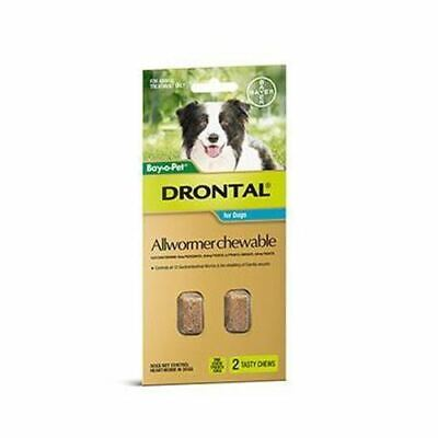 Drontal Allwormer Chews for Dogs up to 10 kg - 2 Pack