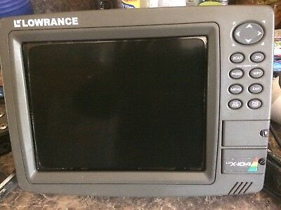 Lowrance LCX-104c Chart Plotter Navigation Fish Finder and GPS Complete + Cover