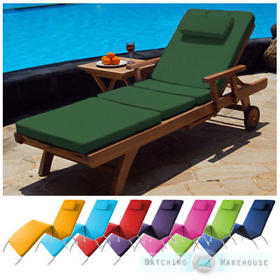 Waterproof Cushion Pad for Outdoor Garden & Patio Adjustable Sun Lounger Bed