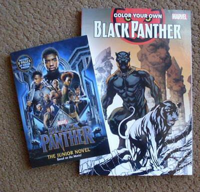 BLACK PANTHER Movie Collectible Lot Marvel Junior Novel & Coloring Book NEW!