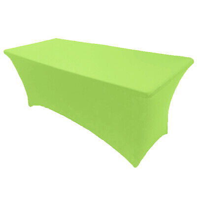 4' ft x 2.5'ft Spandex Fitted Stretch Tablecloth Table Cover Wedding Lime