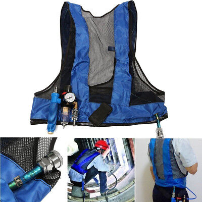 Welding Steel Air Compressed Cooling Vest Vortex Tube Air Conditioner Vest UK