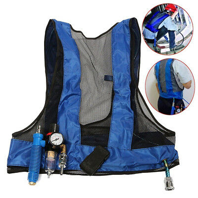 Vortex Tube Air Conditioner Waistcoat Compressed Cooling Vest Welding Steel UK