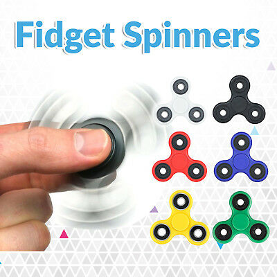 3D Tri Fidget Hand Finger Spinner EDC Focus Stress Reliever Toys For Kids Adults