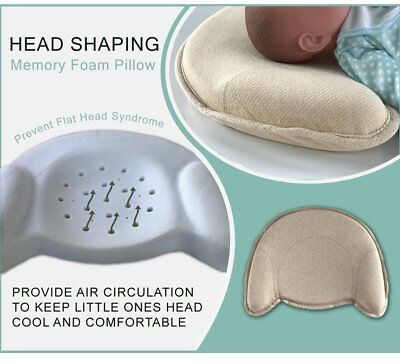 Breathable Baby Pillow w/ Soft and Cozy Pillowcase to Prevent Flat Head Syndrome