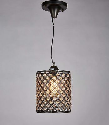 Diamond Life Antique Bronze Finish 1-light Round Crystal Chandelier Mini ... New