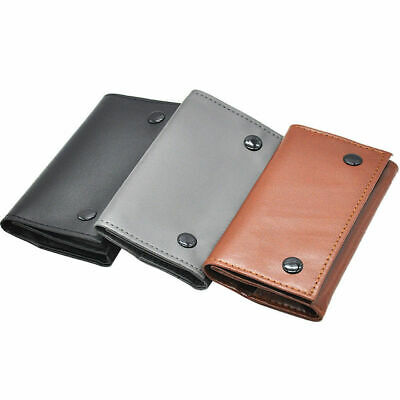 Leather Cigarette Tobacco Pouch Bag Case Rolling Paper Wallet Smoker Portable