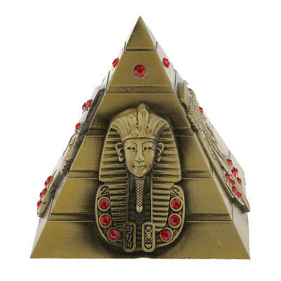 8.5cm Metal 3D Model Egyptian Pyramid Statue Souvenir Gift Home Office Decor