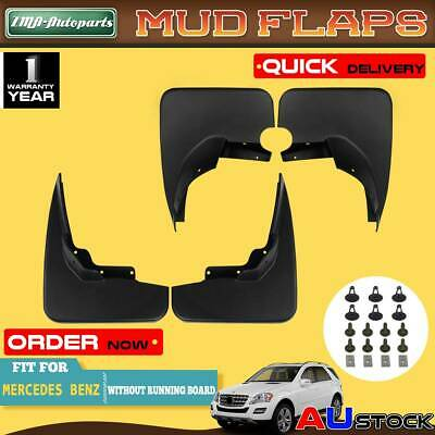 4Pcs Splash Guards Mud Flaps for Mercedes Benz ML320 ML350 ML500 W164 2005-2011