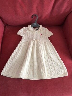 Baby Ralph Lauren Dress.  Lovely Baby Girl Dress.  Size 9 months. Cream.