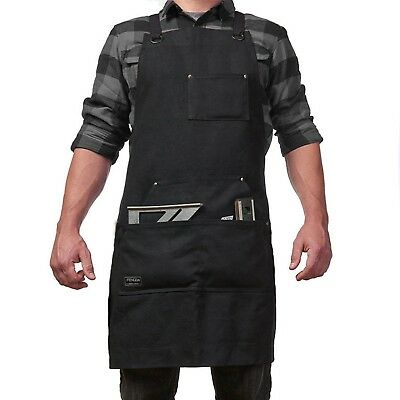 Work Apron with Tool Pockets for Men and Women Heavy Duty Waxed Canvas To... New
