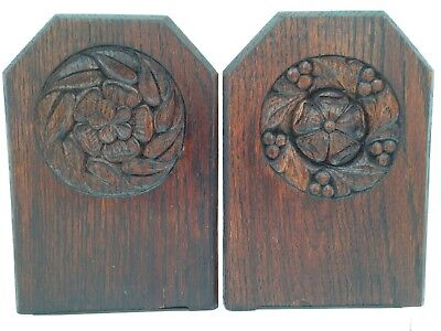 Vintage Gothic Wooden Book Ends