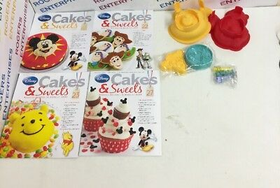 Eaglemoss Disney Cakes & Sweet Issues 22/23/27/43 + Gifts/Moulds/Cutters - NEW