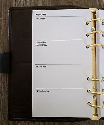 Personal 2019 Week-on-Two-Pages planner refill (Filofax Personal size)