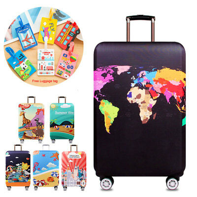 """18""""~32"""" Luggage Protector Elastic Colorful Suitcase Cover Dustproof Anti Scratch"""