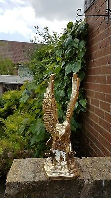 Solid Brass Eagle about medium sized nice decorative/collactable Item.Beautiful.