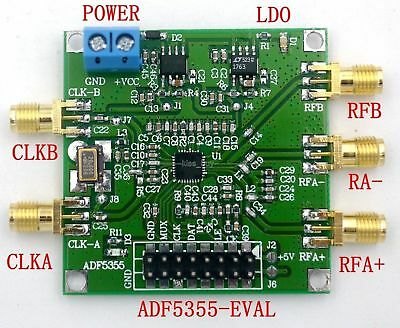 ADF5355 54 MHz-6000MHz Host computer phase loop RF source board
