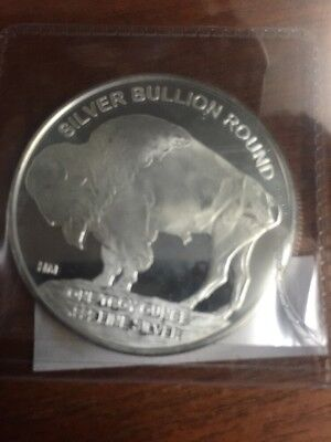 2016 Highland Mint 1 Troy Oz .999 Silver American Indian Buffalo Round SKU37568