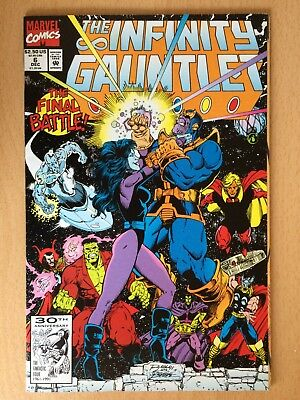 Infinity Gauntlet #6, 1991, battle with Thanos - Decent condition