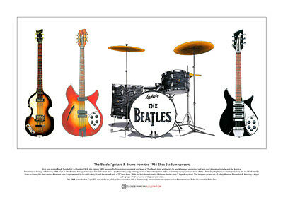 The Beatles' Gear From The Shea Stadium Limited Edition Fine Art Print A3 size
